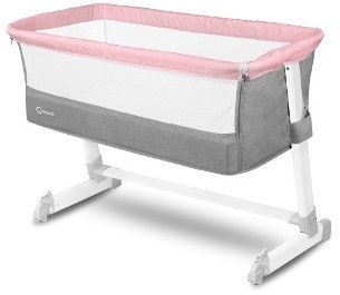 Lionelo Travel Bed Theo Pink/Grey