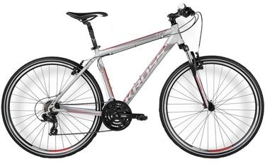 Jalgratas Kross Evado 1.0 II L Silver/Red/Black