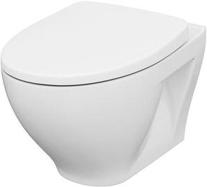 Seinapealne WC-pott Cersanit Moduo Clean On, kaanega, 355x370 mm