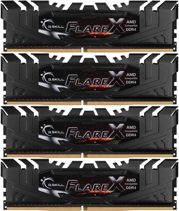 G.SKILL Flare X for AMD 32GB 2400MHz CL16 DDR4 KIT OF 4 F4-2400C16Q-32GFX