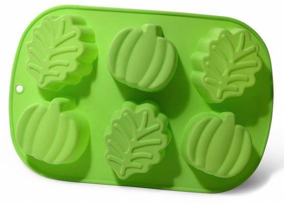 Fissman Cake Mould Leaves Apples 25x16.8x3.8cm 6 Cups