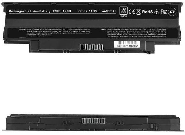 Qoltec Long Life Notebook Battery For Dell Vostro 13R 4400mAh