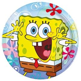 Papptaldrikud Spongebob 8tk
