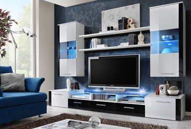 ASM Fresh Living Room Wall Unit Set White/Black