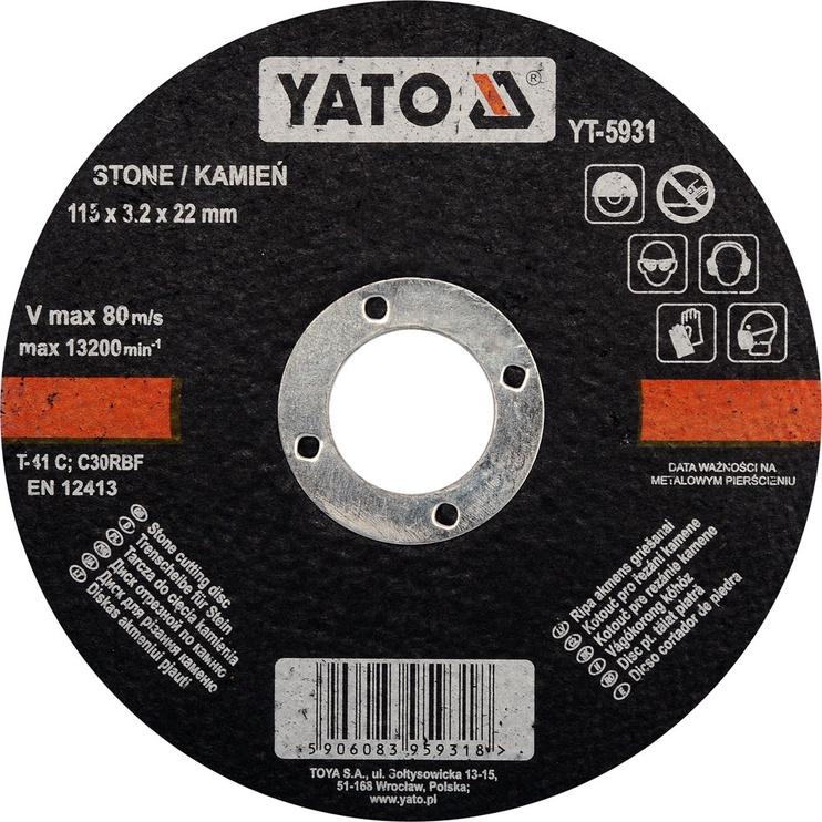 Yato YT-5931 Stone Cutting Disc 115mm