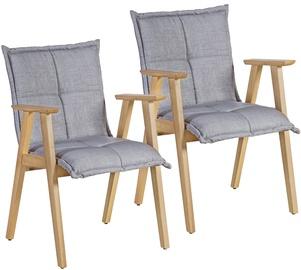 Кресло Home4you Razor Grey, 58x59x85 см