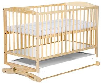 Детская кровать Klups Radek Pine, 120x60 см