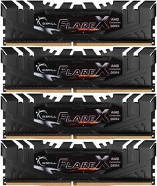 G.SKILL Flare X for AMD Black 64GB 2400MHz CL15 DDR4 KIT OF 4 F4-2400C15Q-64GFX