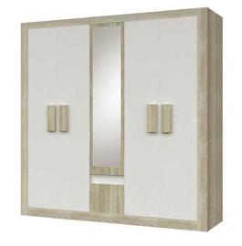 Idzczak Meble Mediolan 5D Wardrobe Sonoma Oak/White