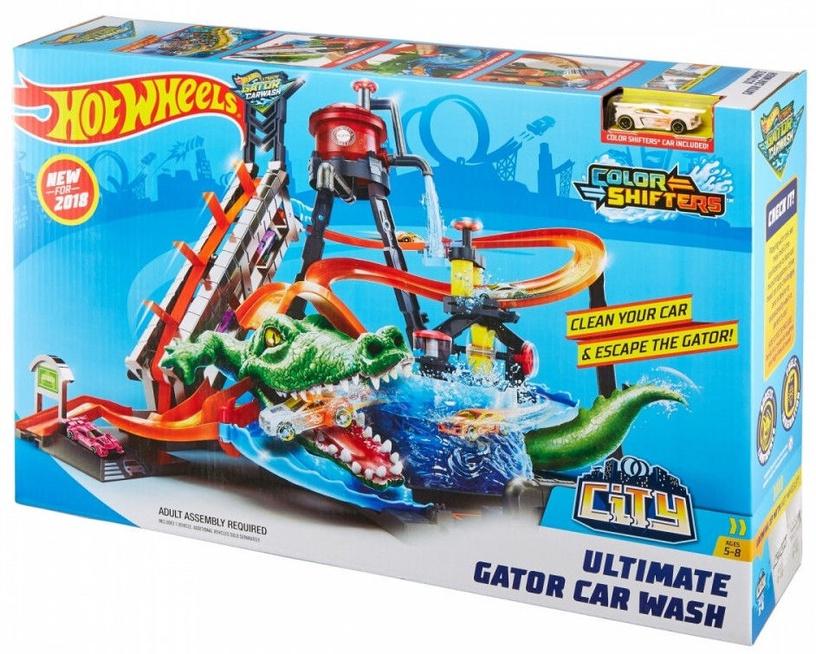 Mattel Hot Wheels City Hot Ultimate Gator Car Wash FTB67