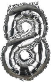 Banquet Foil Balloon 8 Silver 30cm