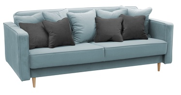 Diivanvoodi Idzczak Meble Niko Light Blue, 206 x 100 x 86 cm