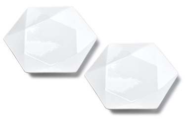 Mondex Ralph Dessert Plates White 2pcs