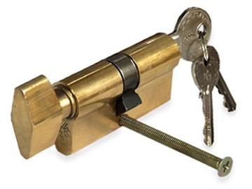 Tesa Assa Abloy Lock Cylinder 503B3030L 60mm Brass