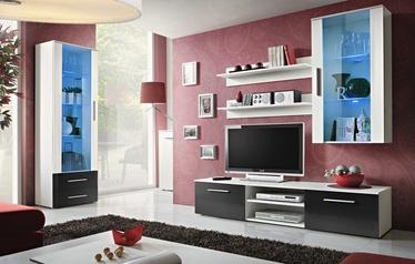 ASM Galino F Living Room Set White/Black Gloss/White Matt