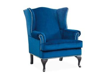 Signal Meble Benjamin 1 Armchair Dark Blue