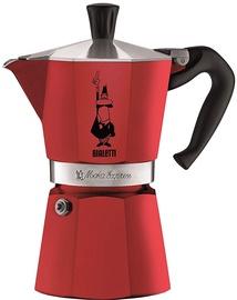 Bialetti Moka Express Stovetop Espresso Maker Red 6 Cups