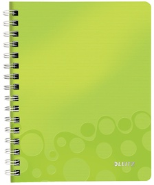 Leitz WOW Notebook A5 Wirebound With PP Cover Green 46410064