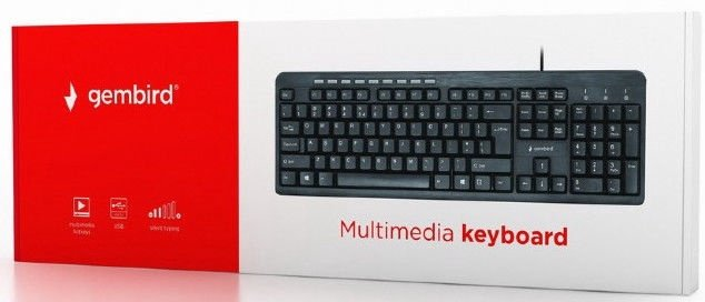 Gembird Multimedia Keyboard Black KB-UM-106 EN