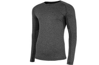 4F Men's Functional Long Sleeve Top Grey S NOSH4-TSMLF002-90M