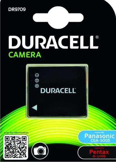 Duracell Premium Analog Panasonic CGA-S005 Battery 1050mAh