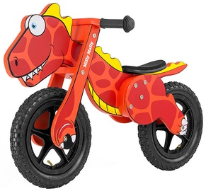 """Tasakaaluratas Milly Mally Dino 2923, punane, 12"""""""