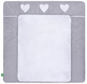 Lulando Changing Table Mat White Dots/Heart 75x85cm