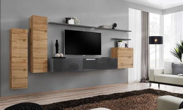 ASM Switch I Wall Unit Graphite/Wotan Oak