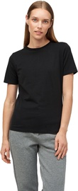 Audimas Womens Stretch Cotton T-shirt Black XS