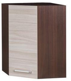 Bodzio Loara Upper Corner Cabinet Latte/Nut