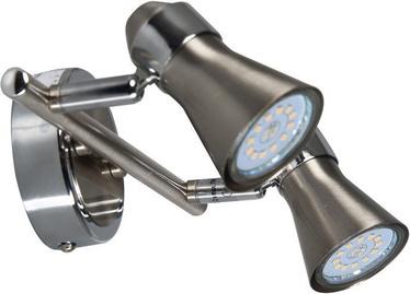 Brilliant Sanny G15413/77 Ceiling Lamp 2x3W GU10 Nickel/Chrome