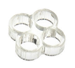 E22 Stealth Cable Comb 4 Slots 4mm Clear