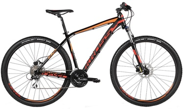 "Jalgratas Kross Level B2 XL 29"" Black Red Orange Glossy 17"