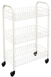 Metaltex Siena Rolling Cart 41 x 60cm White