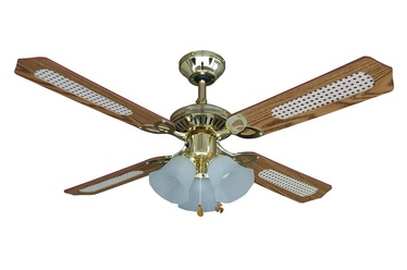 Светильник с вентилятором NS42-PB-R4C3BEA, E14, 3x60Вт