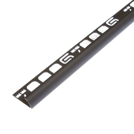 Plaadiliist 017024, välisnurk, 7 mm, 250 cm, must