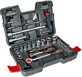 """Top Tools Tool Set 1/4"""" 1/2"""" 53pcs"""