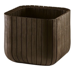 Keter Cube Planter L Brown