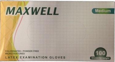 Maxwell Poweder Free Latex Examination Gloves M 100pcs