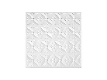 Marbet Ceiling Panels Margareta-Z 50x50x0.8cm White