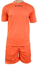 Givova Sports Wear Kit MC Orange XS