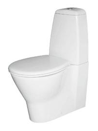 WC-pott Keramin Arktic Dual, kaanega, 358x650 mm