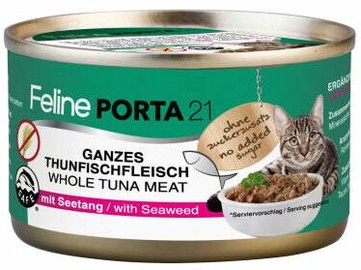 Feline Porta 21 Cat Food Tuna With Seaweed 156g