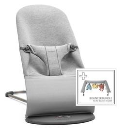 BabyBjorn Bouncer Bliss Light Grey 3D Jersey With Bouncer Bundle