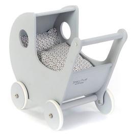 SmallStuff Wooden Doll Stroller Grey