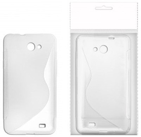 KLT Back Case S-Line Nokia 308 Asha Silicone/Plastic White/Transparent