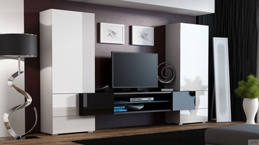 Cama Meble Wall Unit Torii 2 White/Black