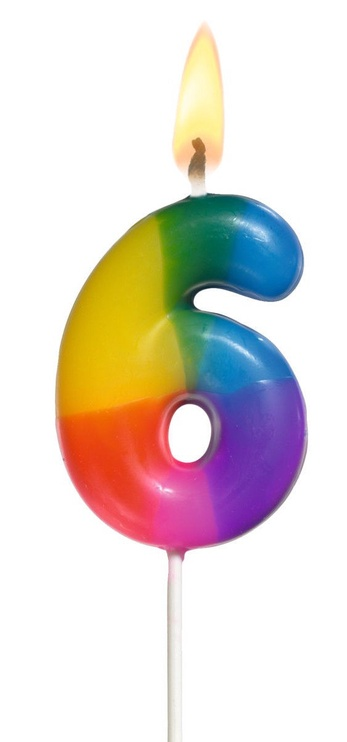 Susy Card Multicoloured Number Candle 6