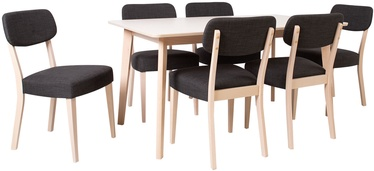 Home4You Adora Dining Room Set 6 Chairs Light Beech