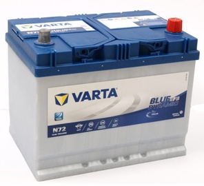 Аккумулятор Varta Blue Dynamic EFB N72, 12 В, 72 Ач, 760 а